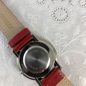 Vera Bradley Accessories - Vera Bradley front and back this Red Leather Watch